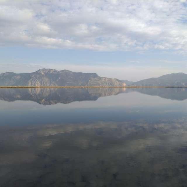 Безветренная погода. Озеро.