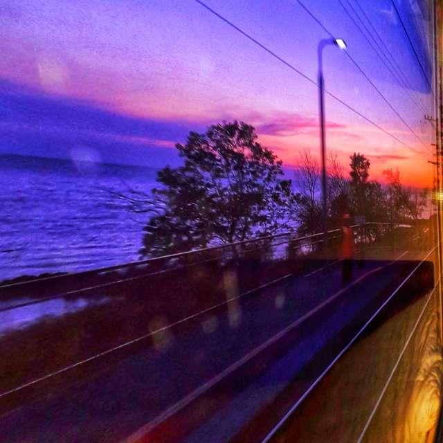 Из окна вагона