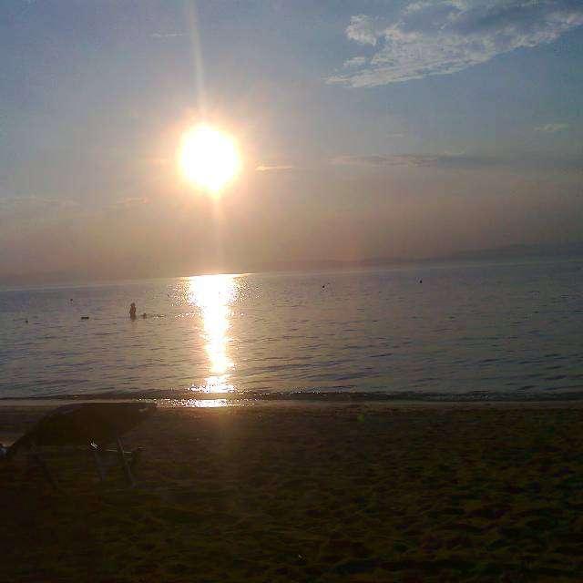 最も心地よい夕日