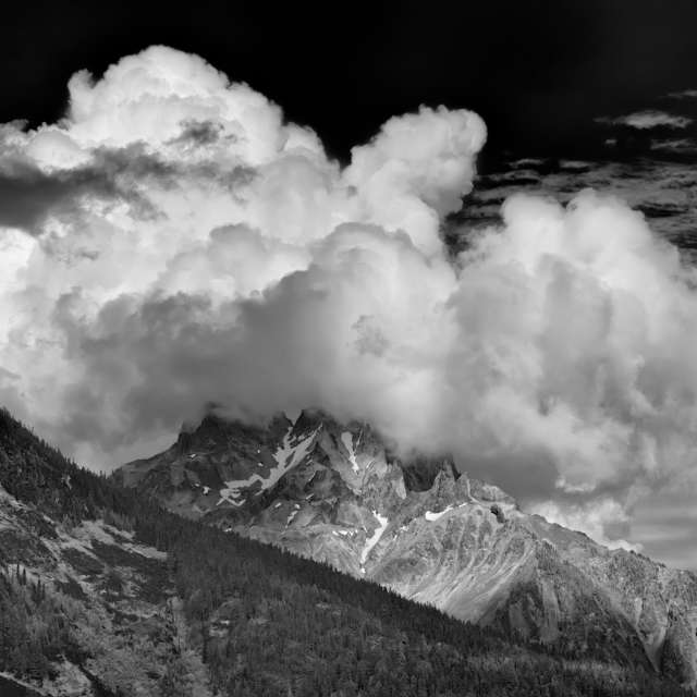 Clouds Sitting on Mountain, BC