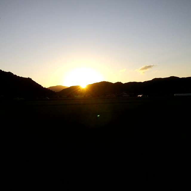日が落ちる時