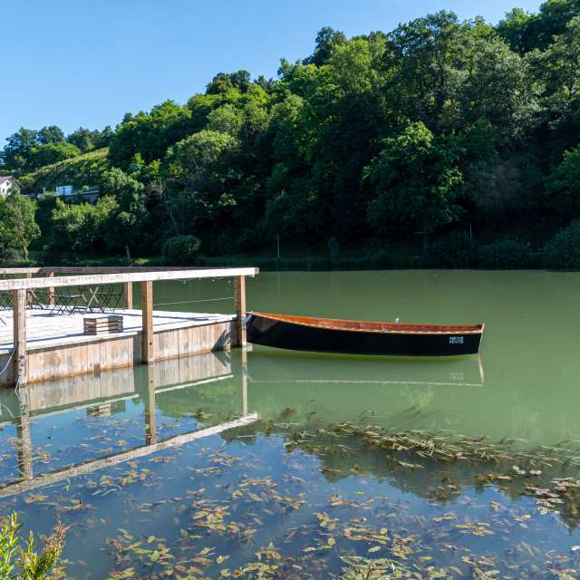 Boat on the Krka river