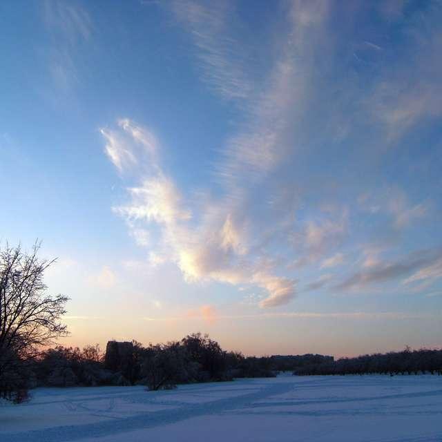 Небо, зима