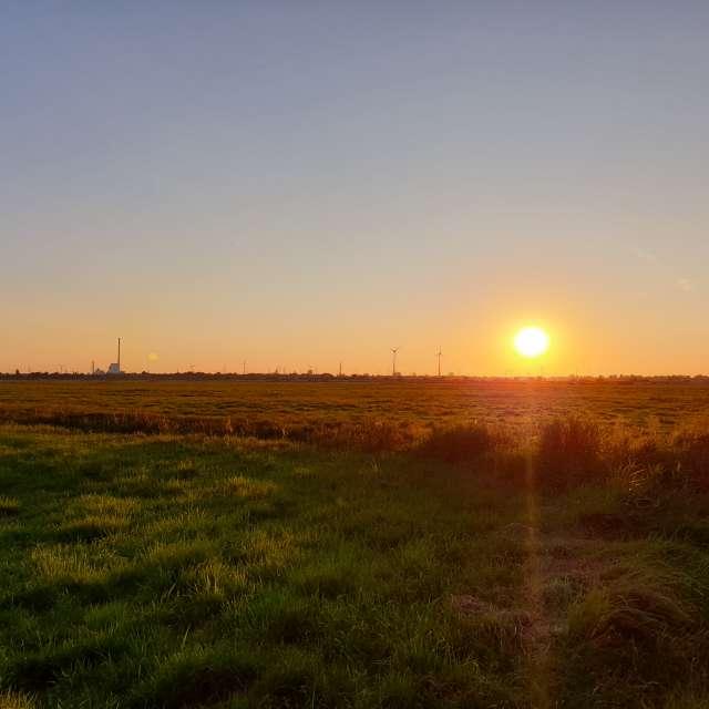 Sonnenuntergang im Blockland