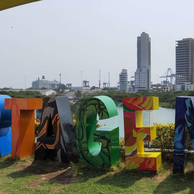 Cartagena port view