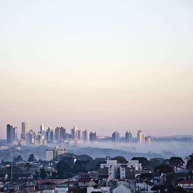 Manhã de inverno em Curitiba