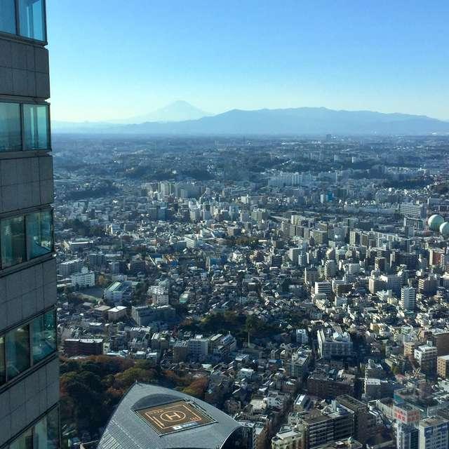 横浜快晴、視界の先に富士山