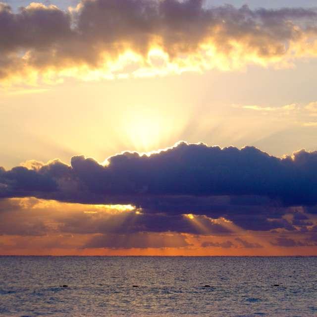 Sunrise over the Carribean