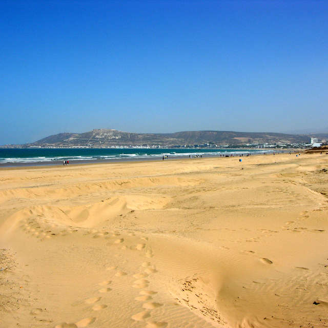 Beach in Agadir in Morocco