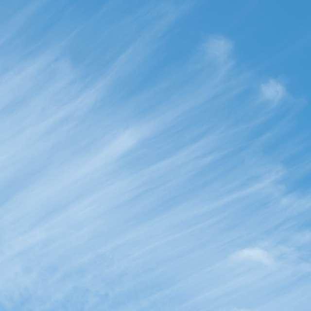 刷毛塗りしたような筋雲と青空