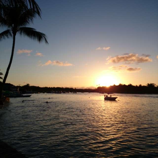Sunset boipeba brazil