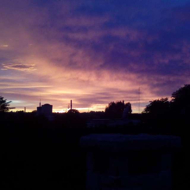 Amanecer en Bahía Blanca