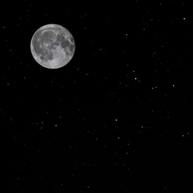 Vollmond in einer klaren Nacht