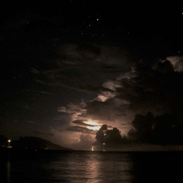 Nigh T-Storm over Tahiti
