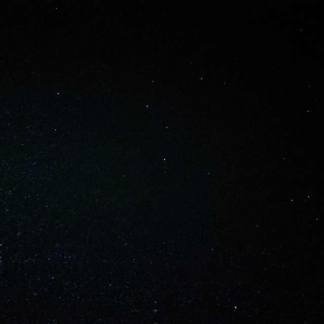 獅子座のある夜空