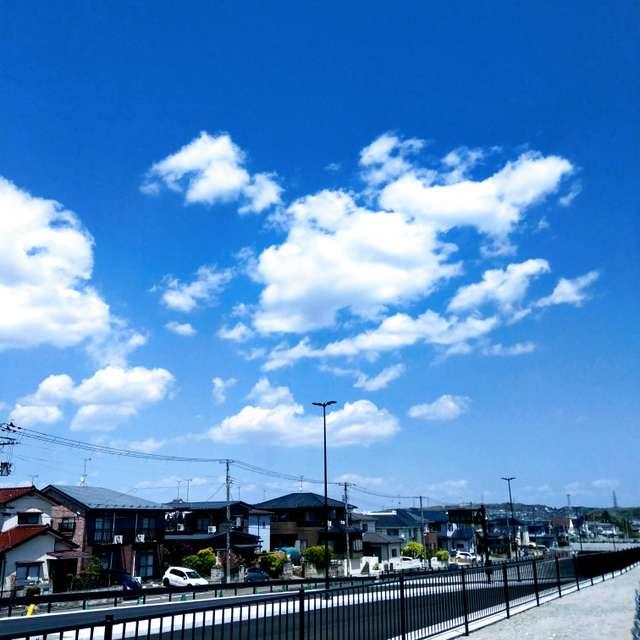 Sti🐤 # ねけるような青空 建設中の道路