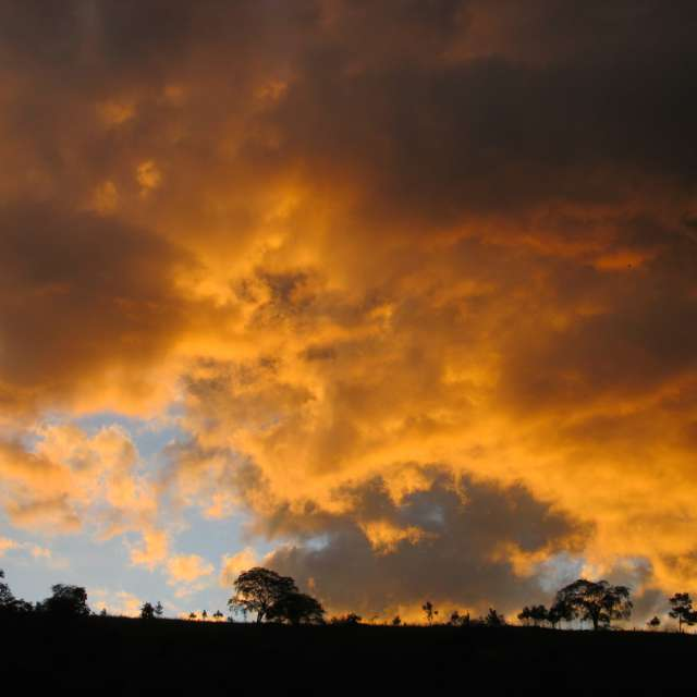 Céu de fogo, foto única!