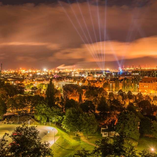Gdańsk noca