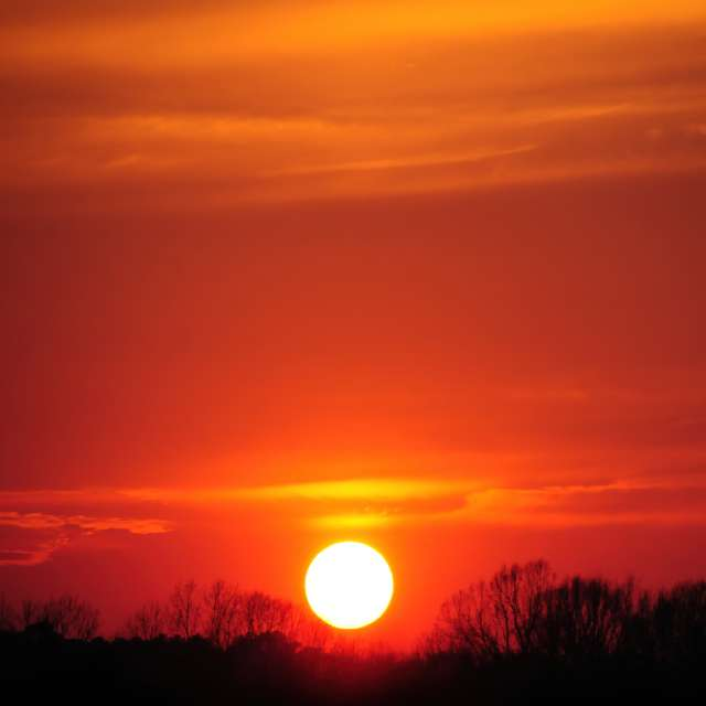 Near Sun in Red Sky