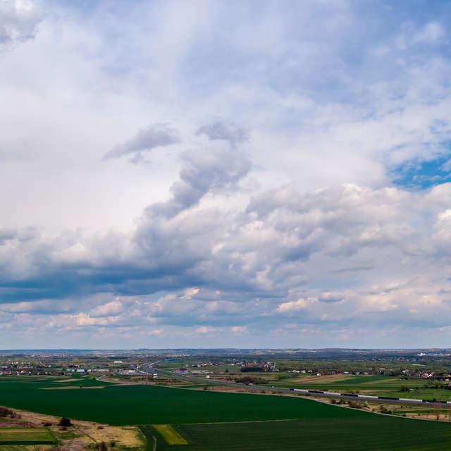 bird's-eye view of countryside