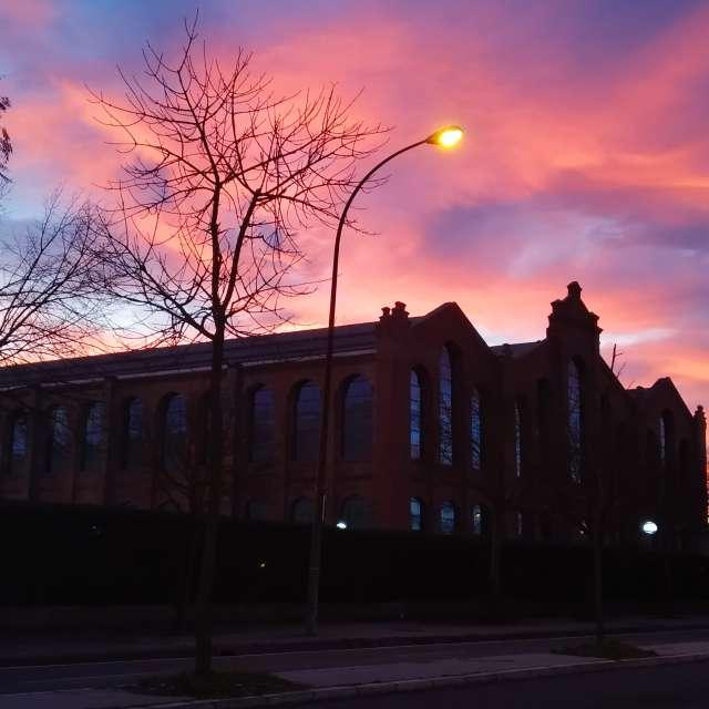 Puesta de sol en Vitoria