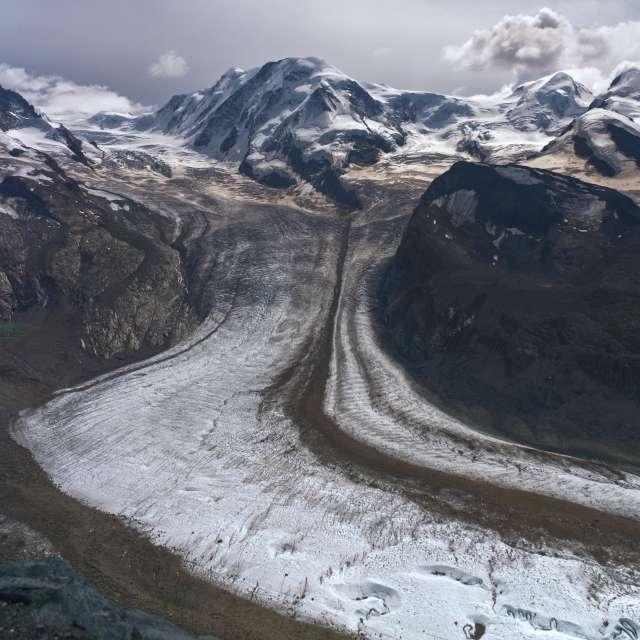 Glacier in Gornergrat Zermatt