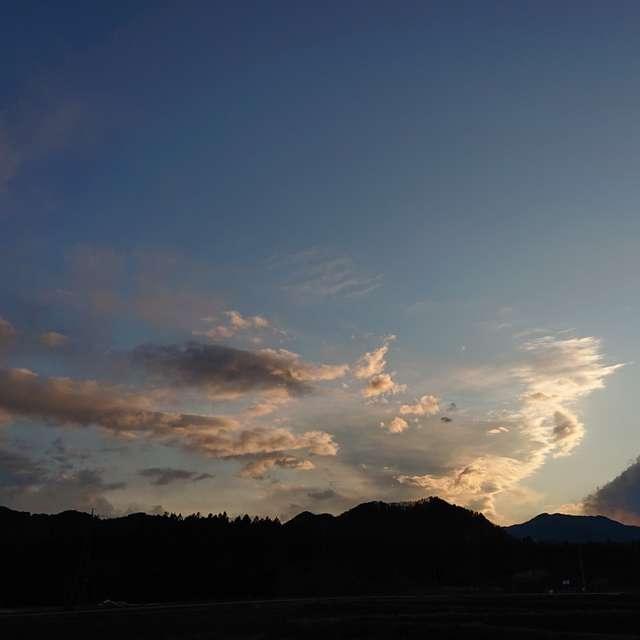 日光の夕暮れ