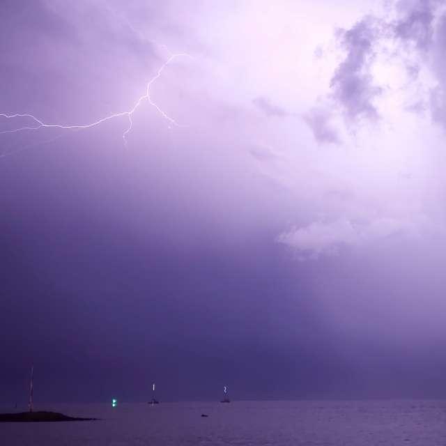 Night T-Storm in Tahiti