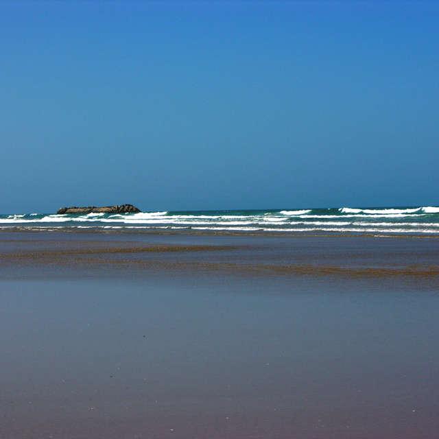 Beach in Agadir in Morocco