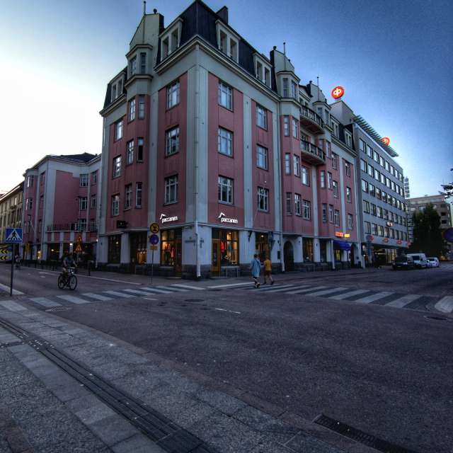 Grand old building at Oulu, Fi
