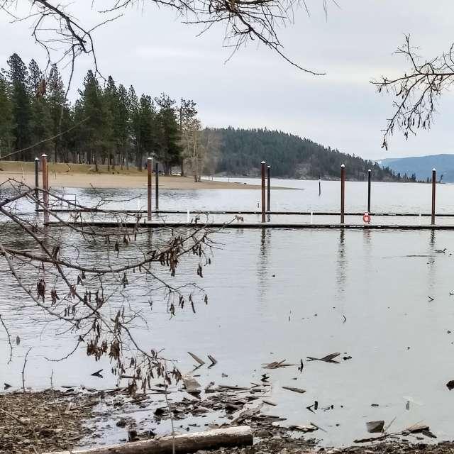 Spokane River meets Lake CDA