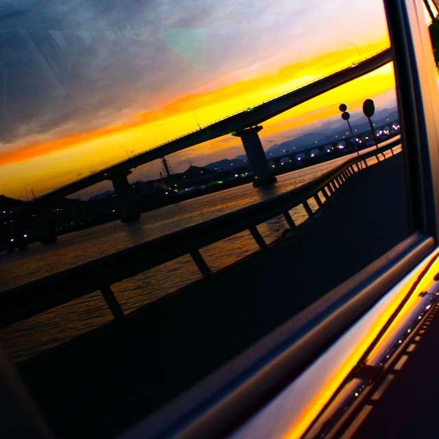 Sunset from my car windows