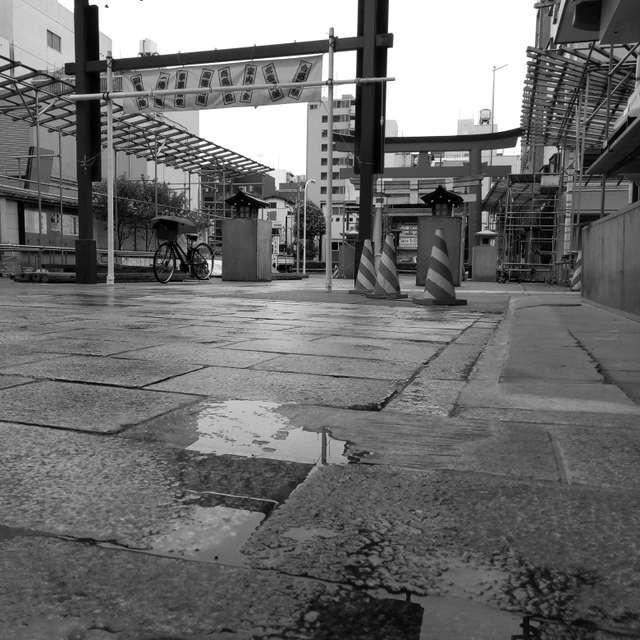 小雨降る浅草鷲神社