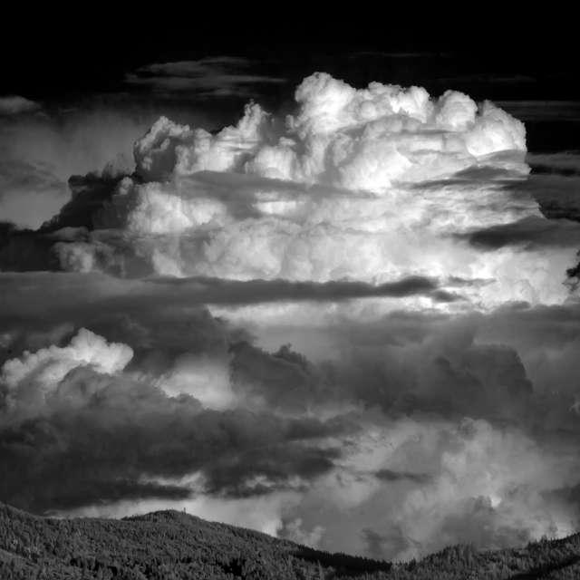 Massive Clouds and Moonrise,BC