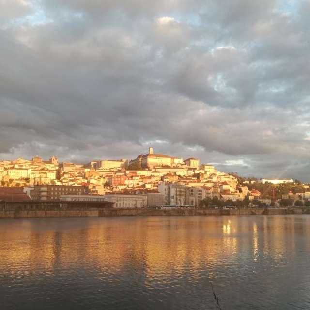 Coimbra city at sunset