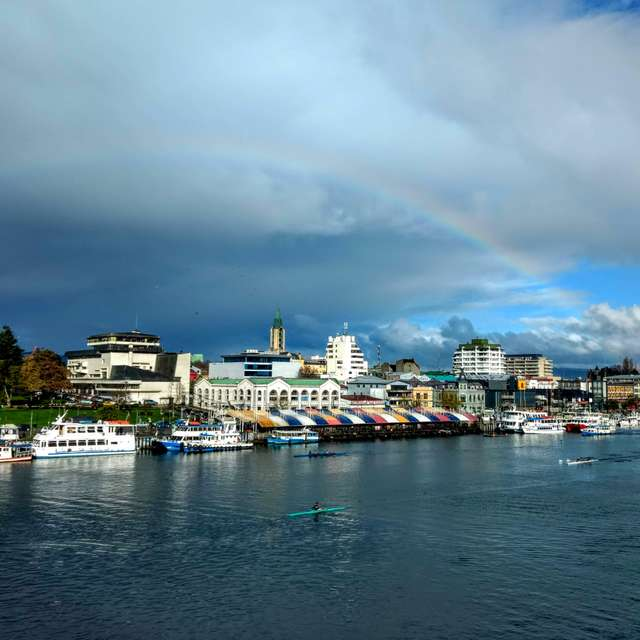 Feria Fluvial with Rainbow