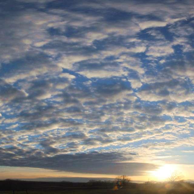 Golden Hour Blue Sky