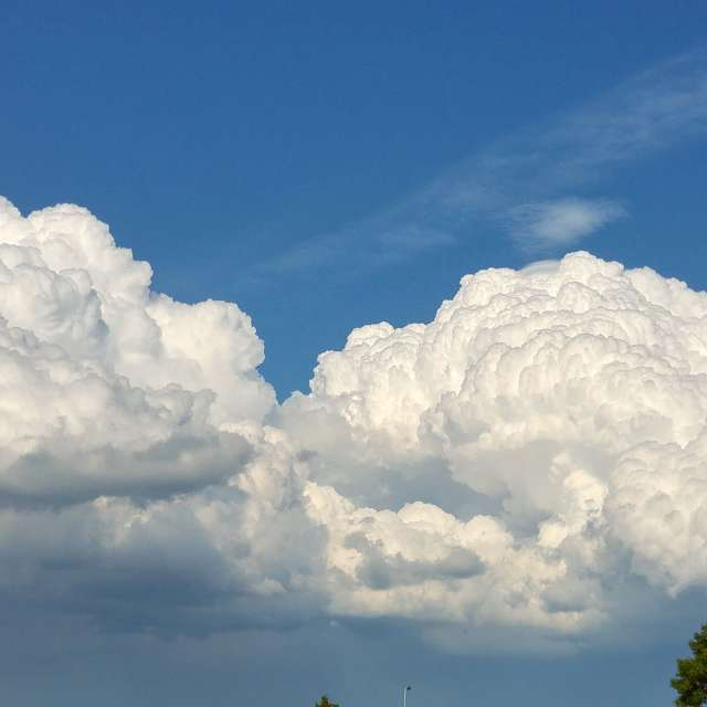 Lush summer clouds