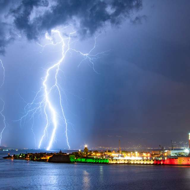 Lightning Strait of Messina