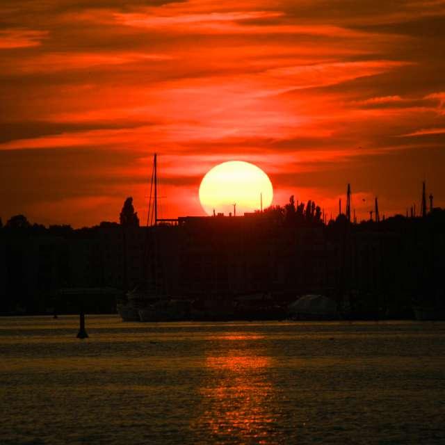 Abendsonne in Rostock