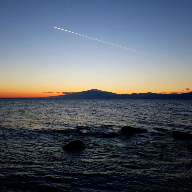 Etna from Calabria Sunset