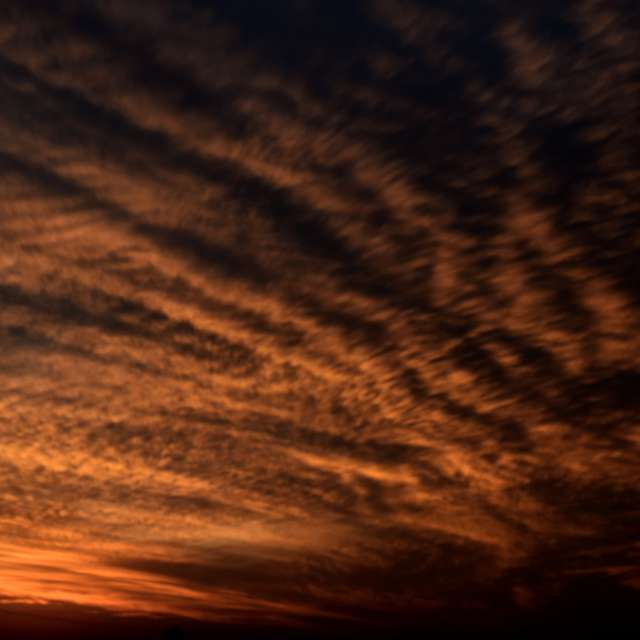 Cielo nubes atardecer