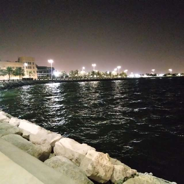 Night ocean