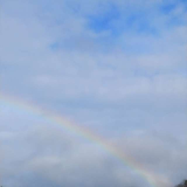 雨上がりの虹🌈。