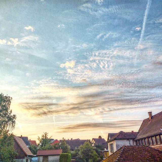 Cielo del martes
