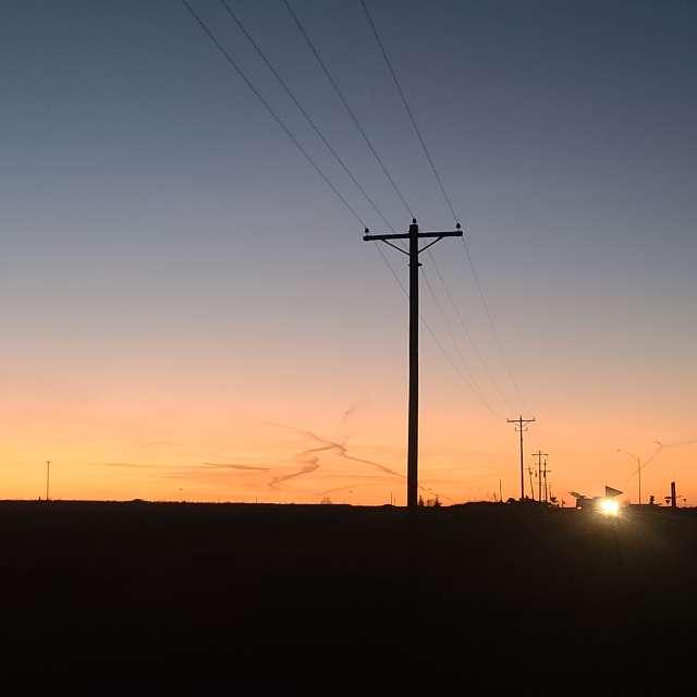 SE Iowa sunset cloud trails