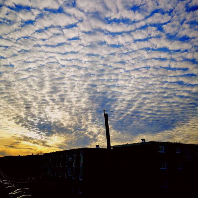 Patterned sky