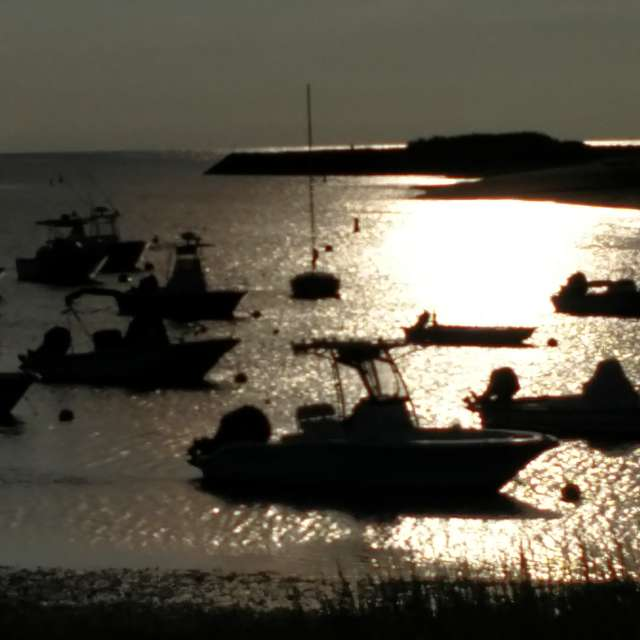 Sun Setting, Low Tide
