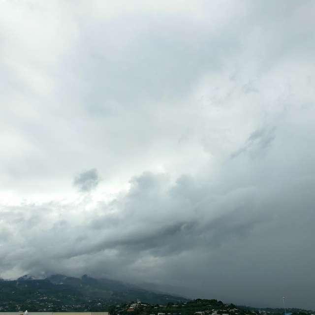 Showers over Tahiti