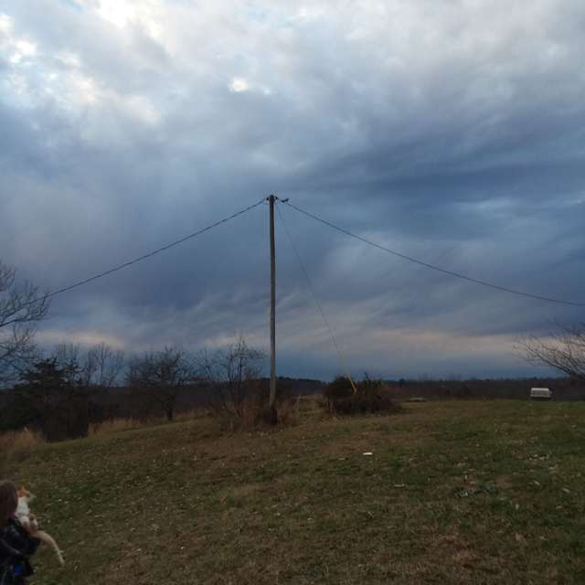 Looming storm clouds